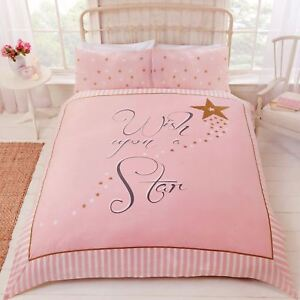 Image Is Loading Wish Upon A Star Duvet Cover Set Pink