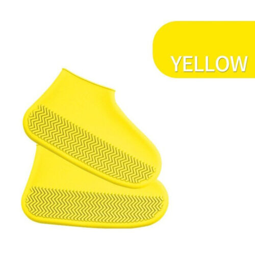 Waterproof Shoe Covers Cycling Rain Reusable Overshoes Silicone Latex Elastic w