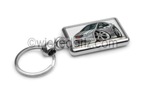 in Silver Premium Metal Key Ring RetroArtz Cartoon Car Honda Civic Type R 2007