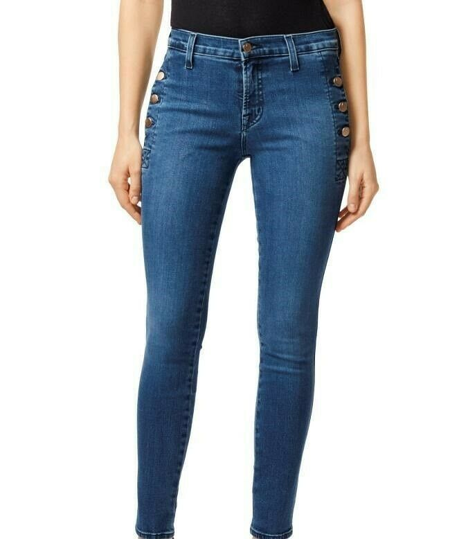 J BRAND femmes Zion JB000796 Jeans Skinny Fuse bleu Taille 25W