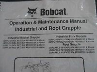Bobcat Skid Steer Industrial & Root Grapple Operation & Maintenance Manual