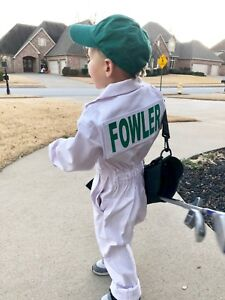 Kids Caddie Golf Uniform White Coverall Suit Adult Halloween Caddy