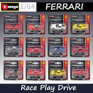 Bburago-echelle-1-64-Modeles-De-Voitures-Kit-Ferrari-Race-Play-serie-Alliage-Diecast-voiture-jouet