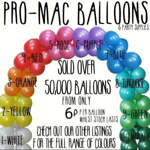"Ballons Pearl & PASTEL 10"" Party Pack Anniversaire Mariage Baptême Baby Shower"
