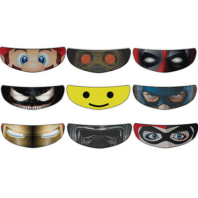 Iron Man Helmet Visor Sticker Superhero Motorcycle Shield Decal Tint Eyes