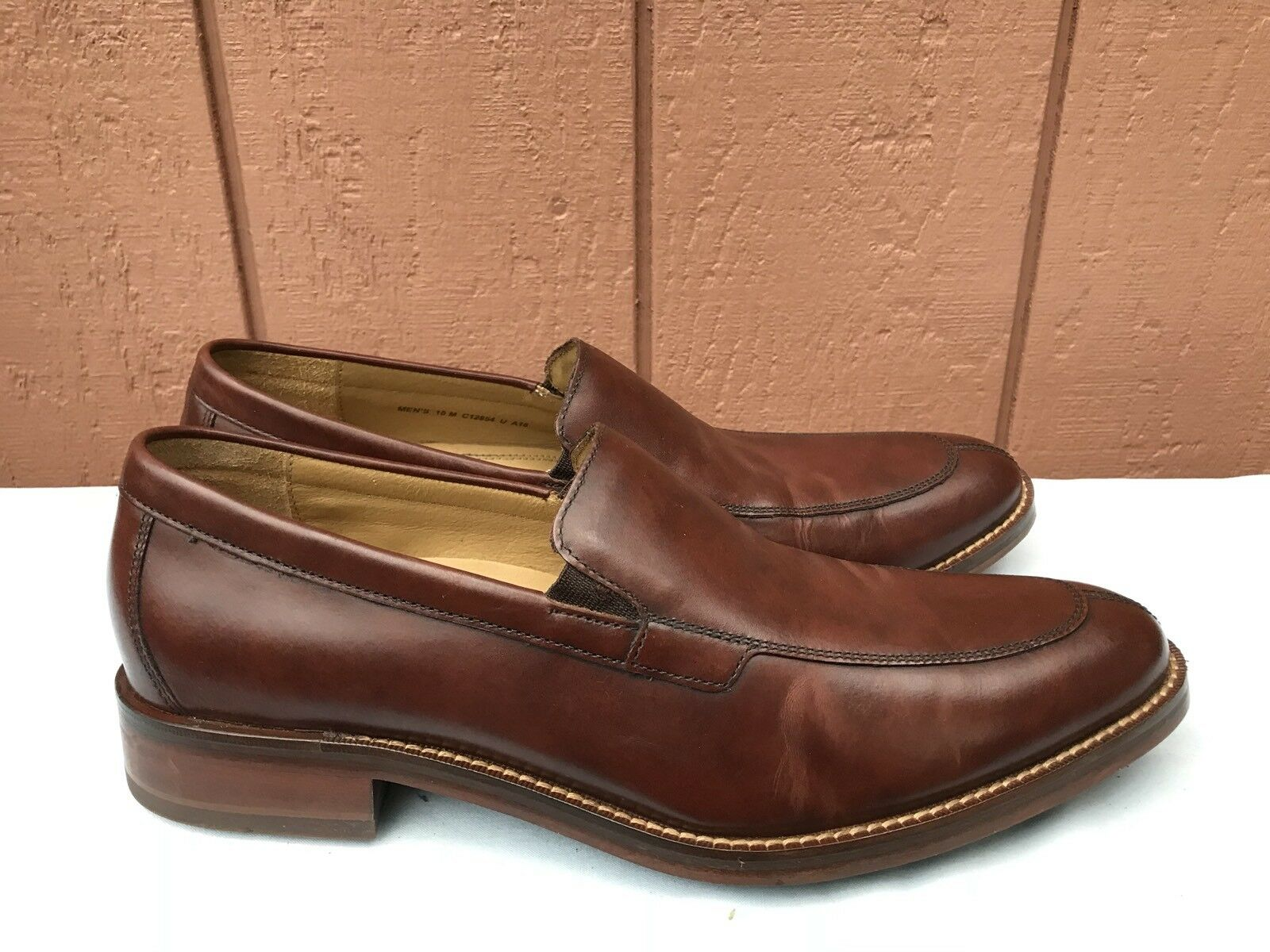 COLE HAAN GRAND OS C12854 10M MADISON SPLIT VENETIAN BROWN SLIP ON LOAFER A6