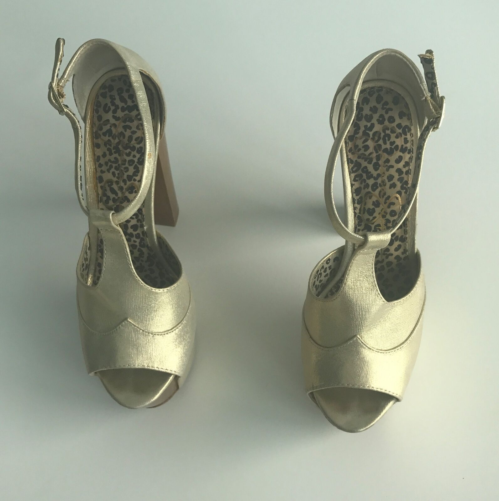Jessica Simpson Dany Dany Simpson Slate Deco Metallic Heel Shoes For Women Size 8B 4a0ad6