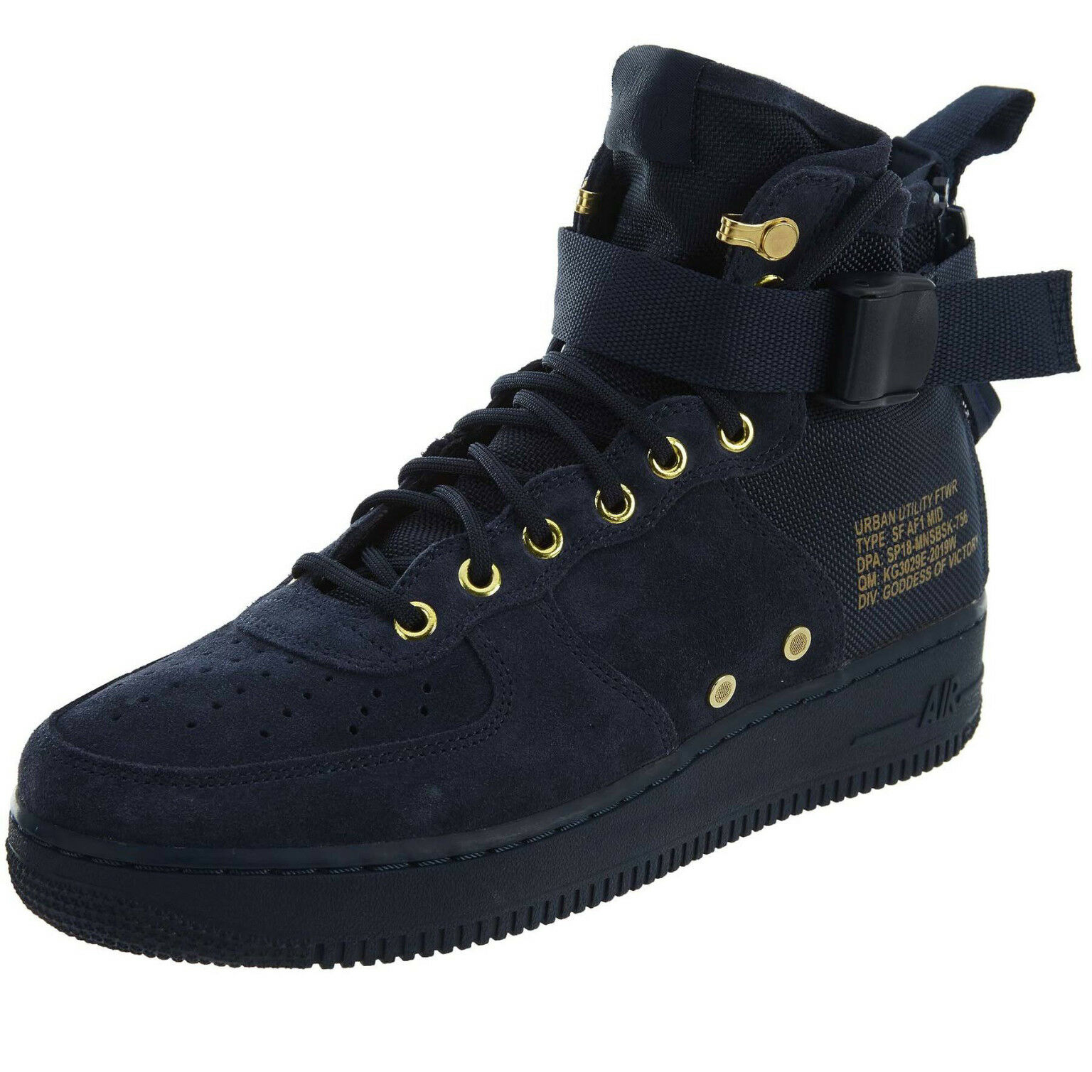 Nike SF Air Force 1 MID 917753-400 Obsidian Suede Black Men's Sportswear Shoes