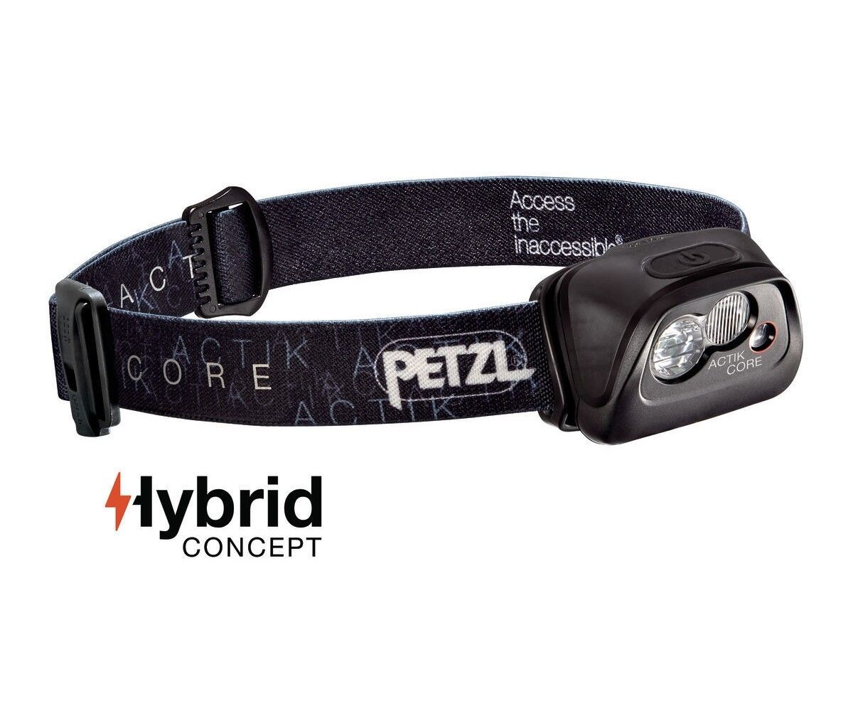 Petzl Led Stirnlampe ACTIK 1250mAh CORE Schwarz inkl. CORE-Akku 1250mAh ACTIK - max. 350 Lumen d2e1ba