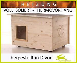 Maison de chat avec chauffage - sol / murs Isolation thermique - rideau thermique lodge pour chat