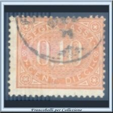1869 Italia Regno Segnatasse cent. 10 bruno arancio n. 2 Usato