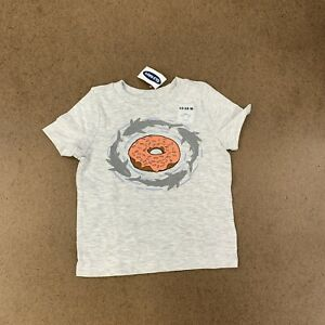 Old-Navy-Toddler-Boys-Size-12-18-Months-Gray-Shark-Doughnut-Graphic-Tee-NWT