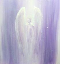 """SERENITY"" - 8x8"" Mounted Print of Original Painting (Angel)"