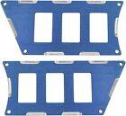 ModQuad - RZR-SP6-1K-BL - 6 Slot Switch Plate, Blue