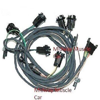rear body tail light wiring harness 66 pontiac gto 1966 coupe & post   ebay  ebay