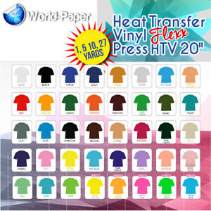 40 x Heat Transfer Vinyl Textile Films Transfer Paper 12 x 10 Inch plotter film textile for Cricut and Silhouette Cameo used in DIY t-shirt clothing and other fabrics