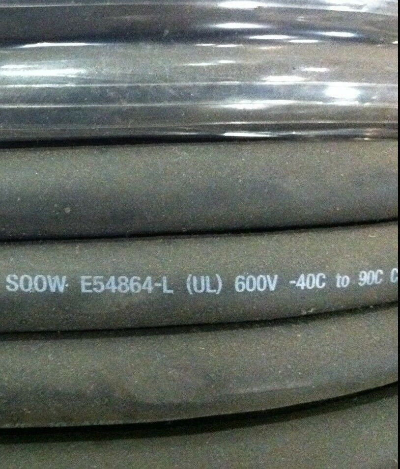 Black 150/' reel SOOW 150/' 10//4C Indoor//Outdoor Portable Cord Copper 600V
