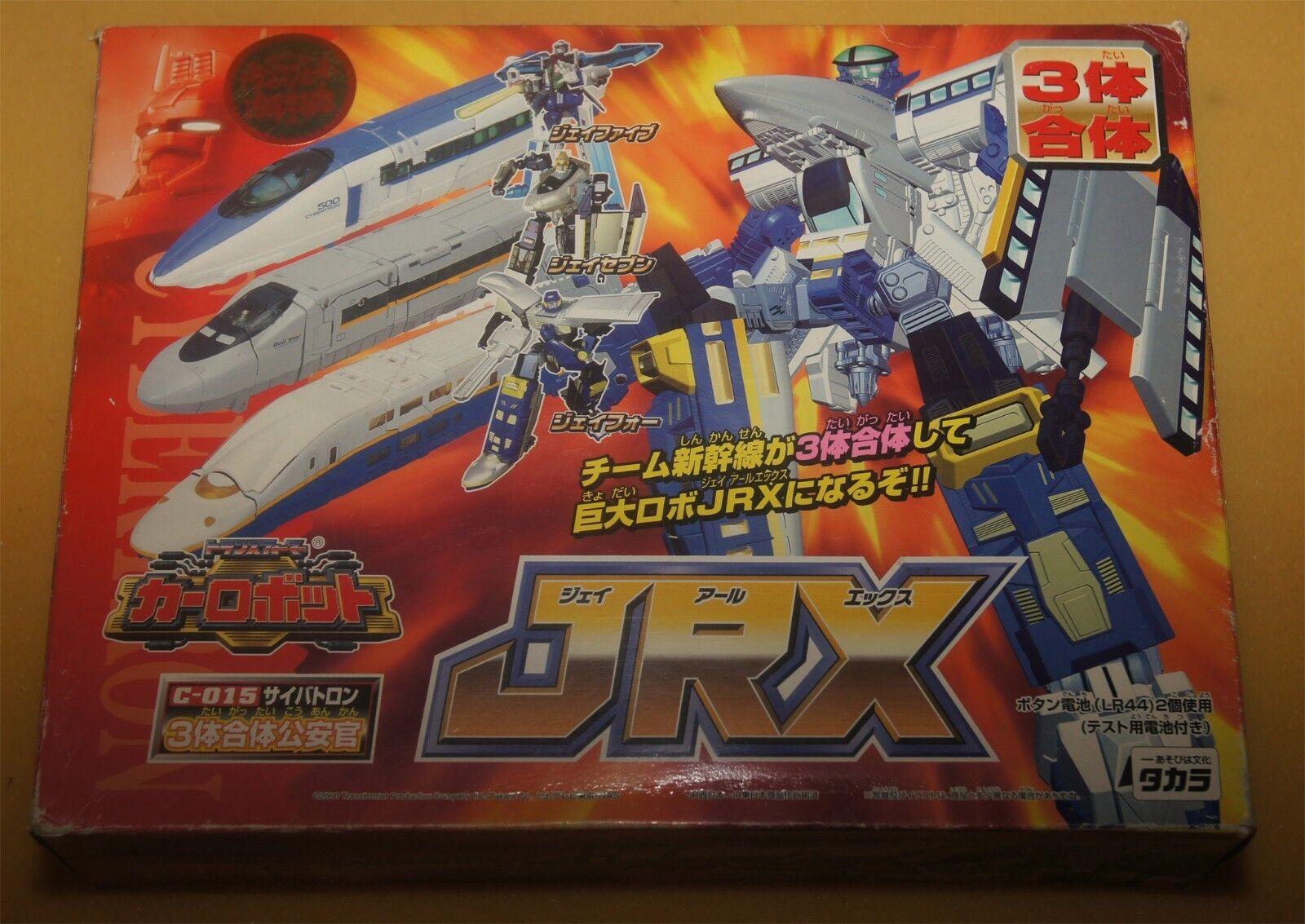Transformers Japanese Car Robots JRX RiD Rail Racer Carbot Combiner Trains