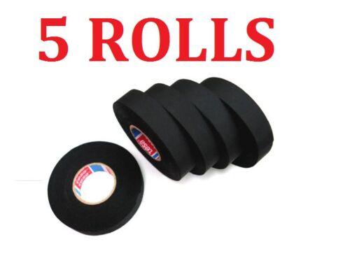 5 ROLLS TESA TAPE 51608 CLOTH FABRIC WIRING LOOM HARNESS 15M 9mm 15mm 19 mm