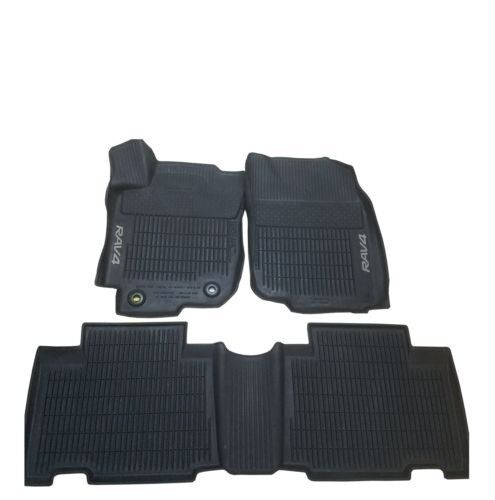 For Toyota RAV4 Set of 3 Piece Front /& Rear All Weather Black Rubber Floor Mats