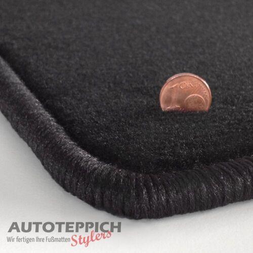 Velours schwarz Fußmatten passend für MERCEDES C-Klasse W203 2000-2007