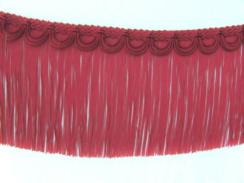 "SPECIAL on 2 Yards of Beautiful 7 1//2/"" Chinese Red Chainette Fringe Trim"