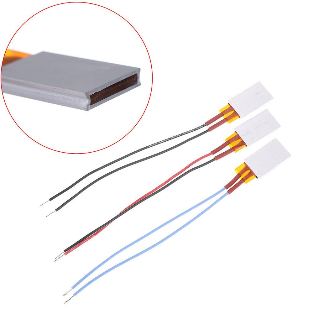 12V 35*21mm Constant Temperature PTC Heating Element Thermostat Heater Platha