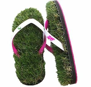 b2b0f9c62 Image is loading GFF-Grass-Flip-Flops-White-Pink