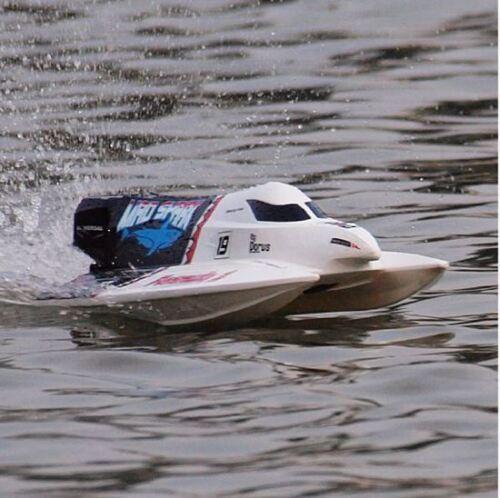 RC professionnel Bateau de course Shark v4 Brushless 60km//h 2,4 GHz Bateau Navire Chow