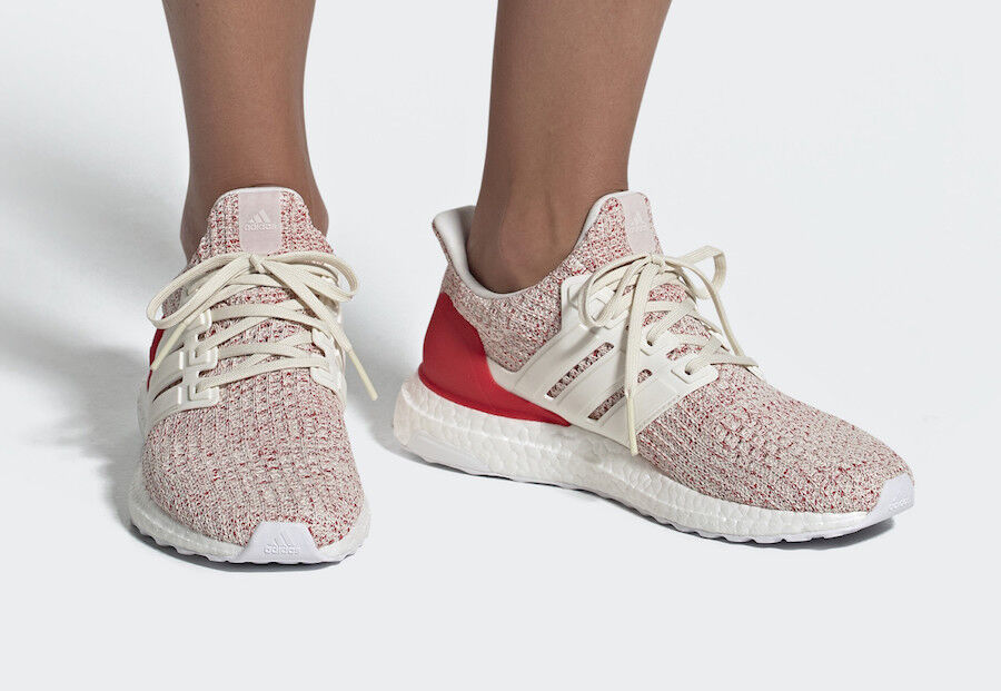 New ADIDAS Women Originals ULTRABOOST shoes (DB3209)    Chalk White   Active Red 521068