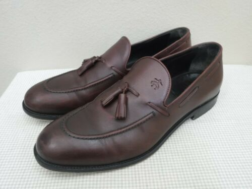 BROOKS BROTHERS ALDEN 11 Burgundy Leather Slip On