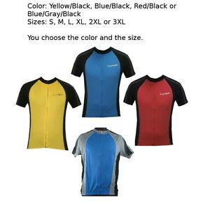 Funkier-Short-Sleeve-Cycling-Jersey-J611-QuickDry-Choose-Color-Size-Road-Bike