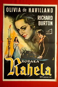 My cousin Rachel Olivia de Havilland movie poster print