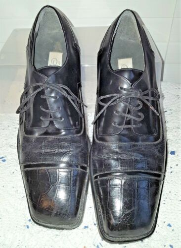 Fratelli Black Leather Oxfords Men's Size 9