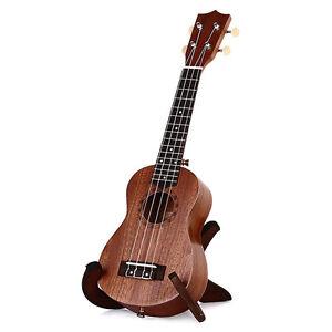 "21"" Concert Ukulele Mini Hawaiian Guitar 15 Frets Musical Instrument Sapele Wood"