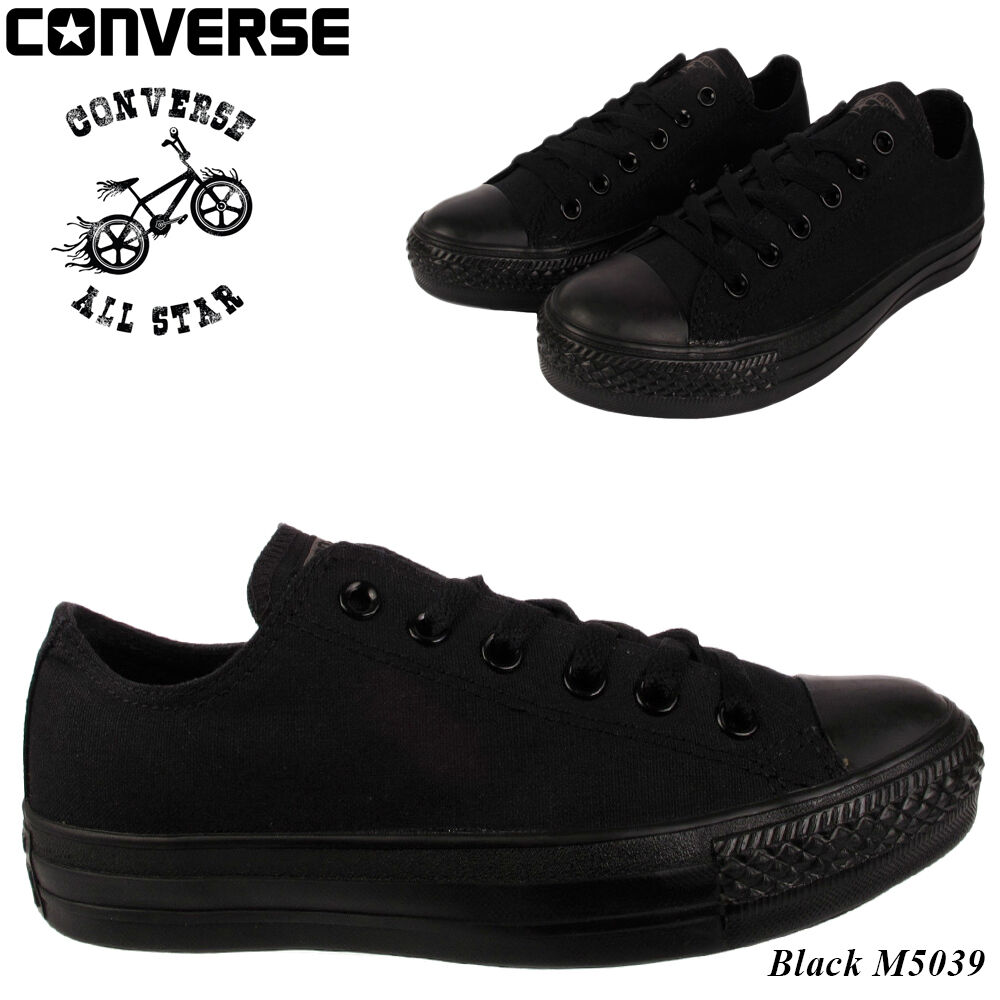 New Converse Hombre Ladies Unisex Classic Negro OX All Star Chuck Taylor OX Negro Low Talla b55746