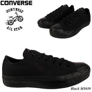 5d1a6070e7b3ae New Converse Mens Ladies Unisex Classic Black All Star Chuck Taylor ...