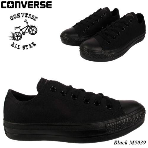 Converse Homme Femme Unisexe Noir Classique All Star Chuck Taylor Ox Low Taille 7-10
