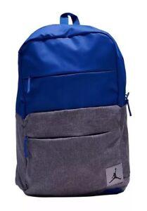 b7562557c Nike Air Jordan Backpack Laptop Sleeve Jump Man Logo Blue /Gray ...