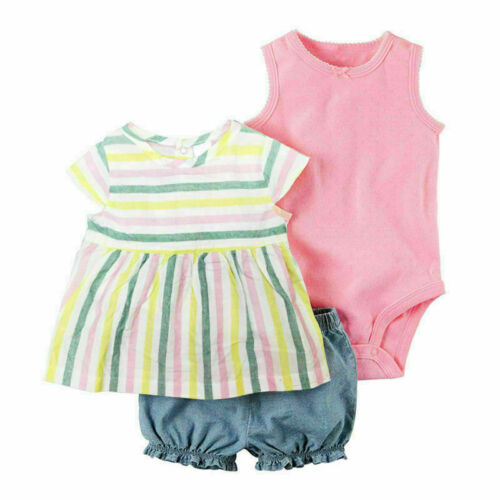 Newborn Baby Boys Girls Short Jumpsuit Romper Bodysuit Cotton Clothes Outfit Lot
