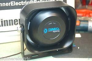 damega compact slim siren speaker 100 watt 11ohm shome code3 federal rh ebay ca