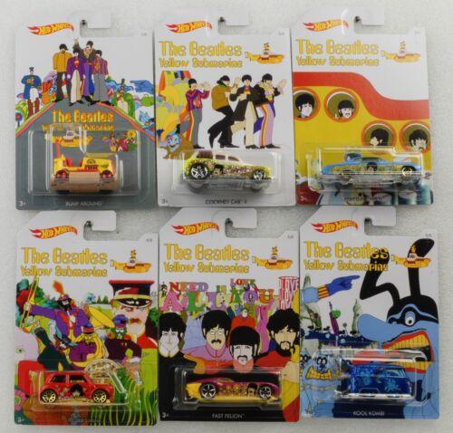 Pop Culture The Beatles Set 6 cars 1:64 Hot Wheels DLB45-956H