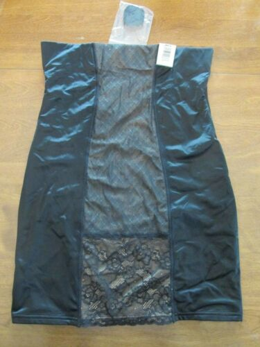 844B4 Maidenform 00312 Convertible Straps Lace Accent Shaping Slip 2XL Black