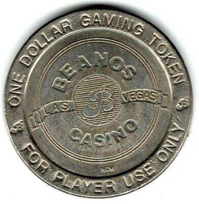 $1 BRASS SLOT TOKEN COIN CASA BLANCA RESORT CASINO 1997 GDC MINT MESQUITE NEVADA
