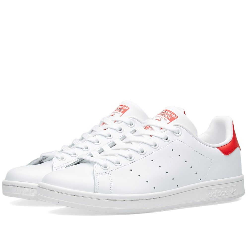 lovely Adidas Stan Smith White Red Sneakers Mens Shoes Adidas M20326 ... 85610ff88b
