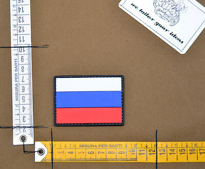 Patch pvc russian flag full color sf velcro airsoft spetsnaz alpha