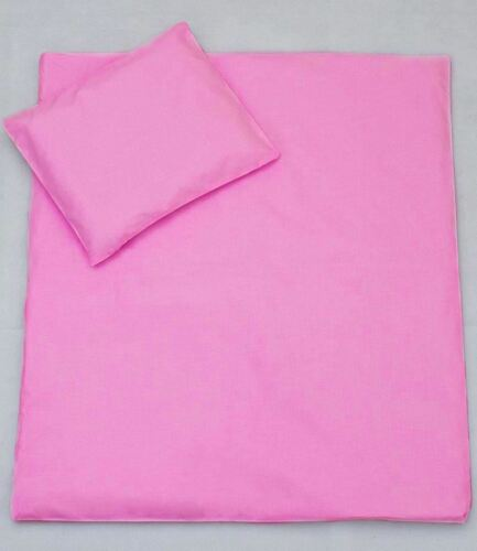Hot Pink Toddler Nursery Cot Pillowcase /& Quilt Cover 120x90 cm
