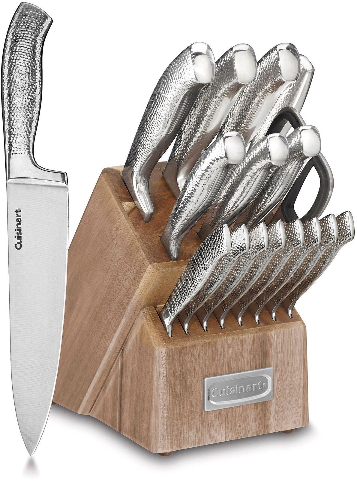 17-Pcs Home Cuisine Antidérapant Acier Inoxydable bloc couteau Set Nouveau