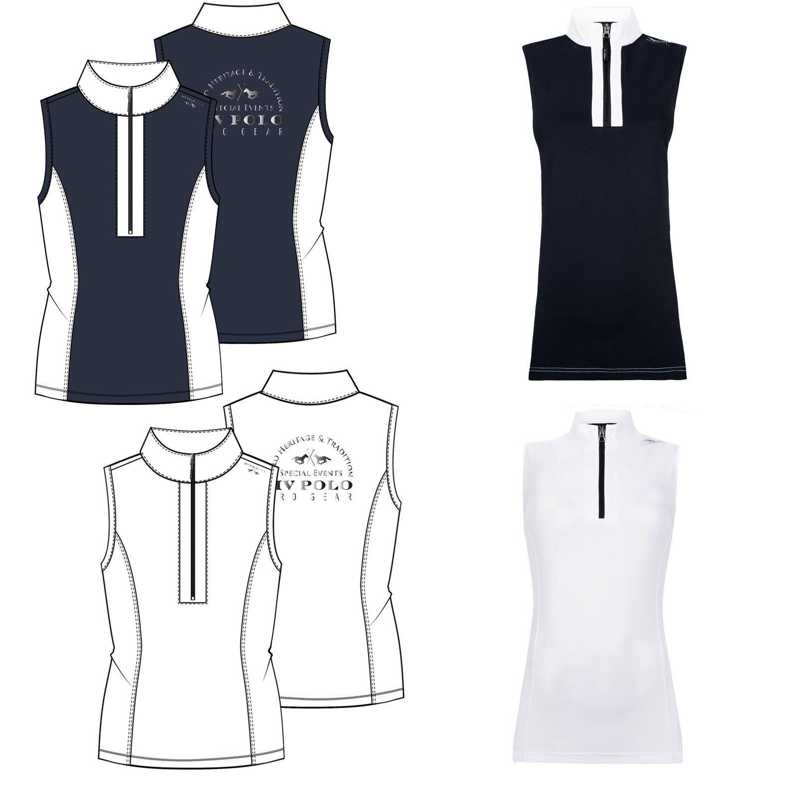 HV Polo Noah Womens Sleeveless High Collar Horse Riding Competition Shirt Top