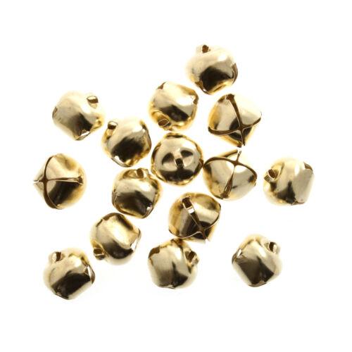 100x Bells Jingle 10mm Gold 100 PK Sewing Craft Tool Hobby Art UK Bulk Filoro